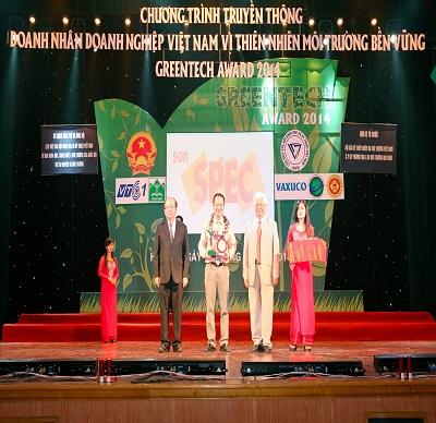 SƠN SPEC ĐẠT GIẢI THƯỞNG GREENTECH AWARD 2014