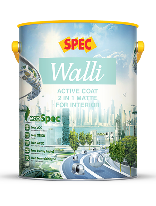 SPEC WALLI ACTIVE COAT 2 IN 1 MATTE FOR INTERIOR - SƠN NỘI THẤT 2 TRONG 1 CAO CẤP LÁNG MỊN