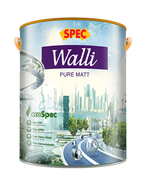 SPEC WALLI PURE MATT - SƠN NỘI THẤT MỜ CAO CẤP