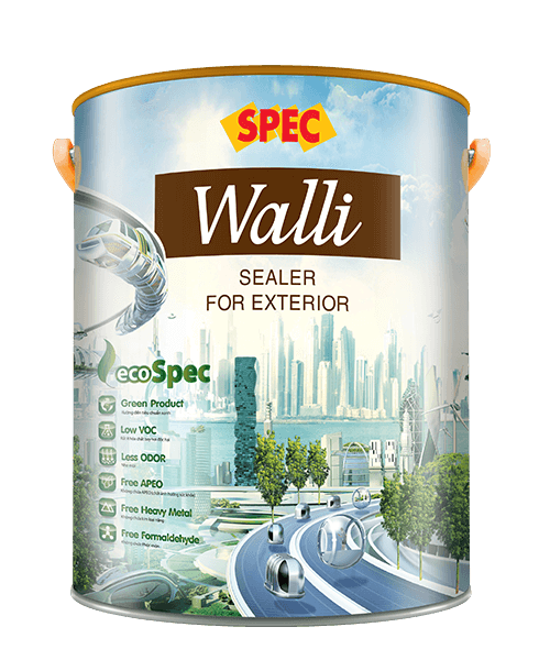 SPEC WALLI SEALER FOR EXTERIOR - SƠN LÓT CHỐNG KIỀM NGOẠI THẤT CAO CẤP