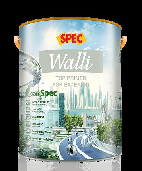 SPEC WALLI TOP PRIMER FOR EXTERIOR - SƠN LÓT NGOẠI THẤT SIÊU KHÁNG KIỀM VÀ KHÁNG MUỐI