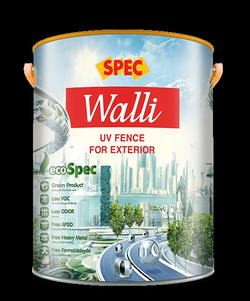 SPEC WALLI UV FENCE FOR EXTERIOR - SƠN NGOẠI THẤT CAO CẤP THÁCH THỨC THỜI TIẾT & BẢO VỆ TỐI ĐA