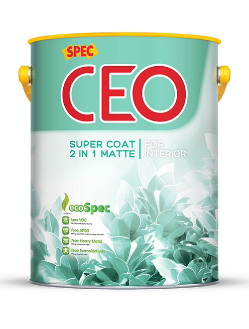 SPEC CEO SUPER COAT 2 IN 1 MATTE FOR INTERIOR - SƠN NỘI THẤT 2 TRONG 1 CAO CẤP LÁNG MỊN