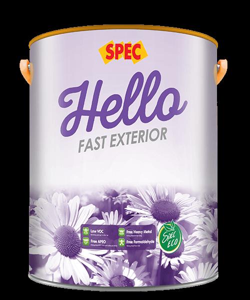 SPEC HELLO FAST EXTERIOR - SƠN NƯỚC NGOẠI THẤT LÁNG MỜ