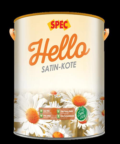 SPEC HELLO SATIN-KOTE - SƠN NƯỚC NGOẠI THẤT SATIN