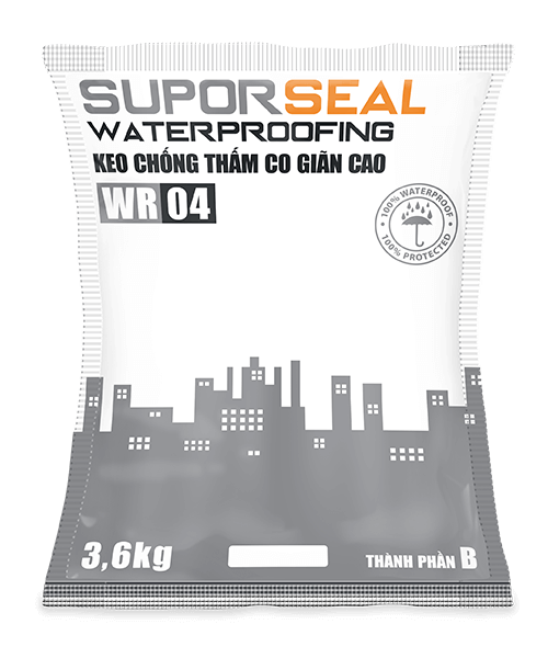 SUPORSEAL WATERPROOFING WR04 - KEO CHỐNG THẤM CO GIÃN CAO
