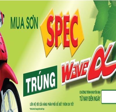 MUA SƠN SPEC TRÚNG XE WAVE ANPHA